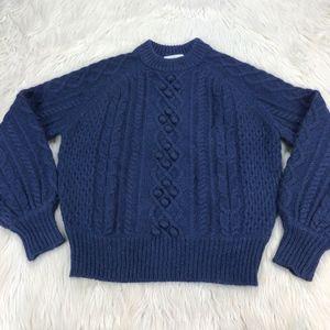 Demylee x J.Crew Balloon-Sleeve Sweater